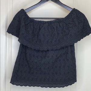 Gianni Bini black off the shoulder shirt